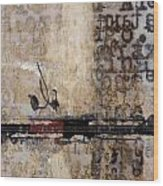 So Linear Wood Print by Carol Leigh