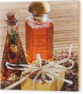 Soap And Fragrance Oils Wood Print by Olivier Le Queinec