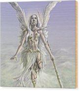 Soaring Angel Wood Print