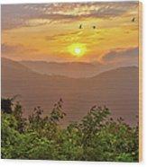 Soaring At Sunrise - Blue Ridge Parkway I Wood Print