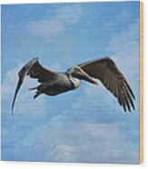 Soaring By Wood Print