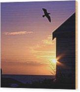 Soaring Sunset Wood Print