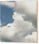Soaring Through The Clouds Wood Print