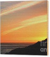 Socal Coastal Sunset Wood Print