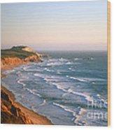 Socal Coastline Sunset Wood Print