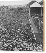 Soccer Crowd At Highbury Wood Print
