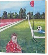 Soccer Field Wood Print