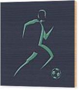Soccer Player1 Wood Print