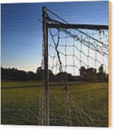 Soccer Sunset Wood Print