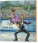 Sochi 2014 - Ice Dancing Wood Print