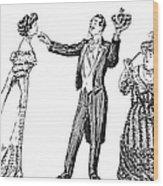 Society Hypnotist, 1900 Wood Print