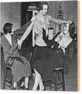 Society Women In Benefit Play Wood Print