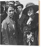 Society Women In Steerage Wood Print