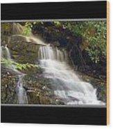 Soco Falls Small Cascade North Carolina Wood Print