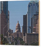 So Co View Of The Texas Capitol Wood Print
