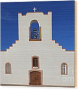 Socorro Mission La Purisima Texas Wood Print