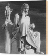 Socrates And Apollon Wood Print