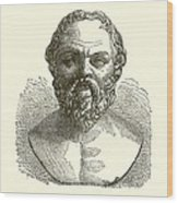 Socrates Wood Print