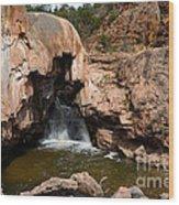 Soda Dam In New Mexico Wood Print