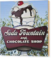 Soda Fountain Wood Print