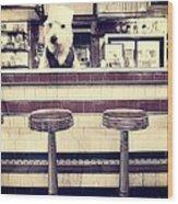 Soda Jerk Wood Print