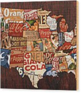 Soda Pop America Wood Print
