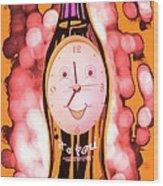 Soda Pop Clock Wood Print