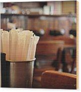 Soda Straws Wood Print