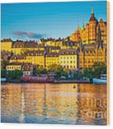 Sodermalm Skyline Wood Print