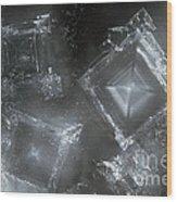 Sodium Hydroxide Crystals Wood Print