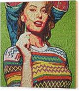Sofia Loren Wood Print