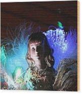 Soft Angel Watching  Wood Print by Edward Hamilton