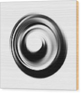 Soft Black Enso - Art By Sharon Cummings Wood Print