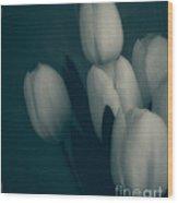 Soft Blue Tulips Wood Print