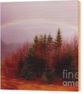 Soft Cape Breton Rainbow Wood Print