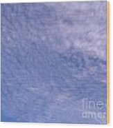 Soft Clouds Blue Sky Wood Print