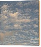 Soft Clouds Wood Print