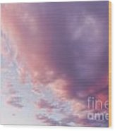 Soft Diffused Colourful Sunset Background Texture Wood Print