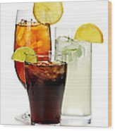 Soft Drinks Wood Print by Elena Elisseeva