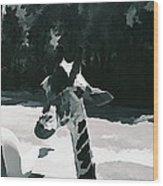 Soft Giraffe Wood Print
