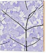Soft Lavender Leaves Melody Wood Print