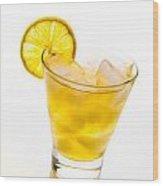Soft Lemon Cocktail Wood Print