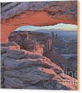 Soft Light On The Rocks Wood Print