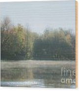 Soft Misty Autumn Morning Wood Print