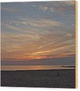 Soft Orange Sunset Wood Print