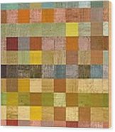 Soft Palette Rustic Wood Series Collage Lll Wood Print