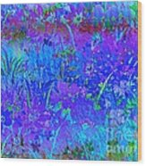 Soft Pastel Floral Abstract Wood Print