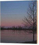 Soft Pink Morning Wood Print