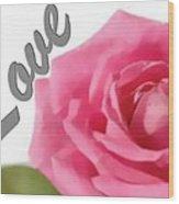Soft Rose Wood Print