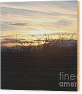 Soft Skies Wood Print